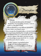 Ultimate Spheres Cards: Divination