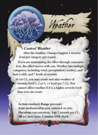 Ultimate Spheres Cards: Weather