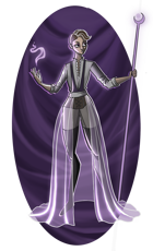 Purple Sorceress - Wizard RPG Stock Art