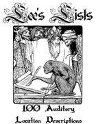 100 Auditory Location Descriptions