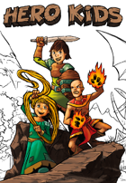 Hero Kids - Fantasy Supplement - Coloring Book - Heroes