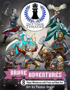 Brave Adventures Dice Tower Theatre Paper Miniatures