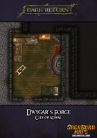 Map - Dwygar's Forge Blacksmith Shop; City of Kowal