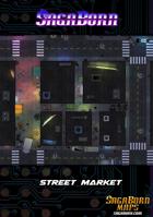 Map - Cyberpunk - Street Market (36x36)