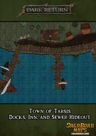 Map - City of Tarsis - Inn, Docks, and Sewers