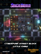 Map - Cyberpunk - City Block in Little China