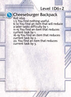 Cheeseburger Backpack - Custom Card