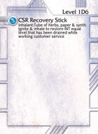 Csr Recovery Stick - Custom Card