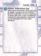 Aldus' Infectious Joy - Custom Card