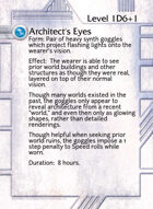 Architect's Eyes - Custom Card