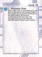 1. Wayback Dust - Custom Card