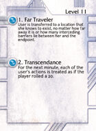1. Far Traveler - Custom Card