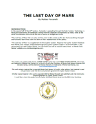 The Last Day of Mars