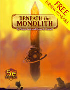 Beneath the Monolith FREE PREVIEW