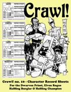 Crawl! no. 10 - Character Record Sheets