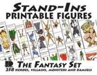 Stand-Ins Printable Figures - Fantasy Set #1