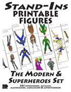 Stand-Ins Printable Figures - Modern & Superheroes Set #1