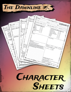 The Dawnline - Character Sheets