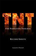 TNT (The Narrative Toolbox) Record Sheets