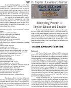 Big Bang Shootout: Stopping Power II: Taylor Knockout Factor