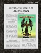 D6xD6 RPG Khitus - Dragon Kings World Setting