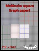 Graph Paper Multicolor