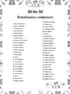 50 for 50 Renaissance Composers