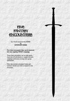 FIVE FANTASY ENCOUNTERS - OD&D 1-page adventures