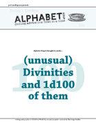 Alphabet Soup, GM Advice Document, 100 Divinities