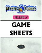 Mystic Forces Second Edition Fillable Game Sheets