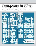 Dungeons in Blue - Edges and Alcoves Set One