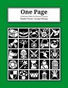 One Page Number Twenty : Strange Writings