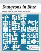 Dungeons in Blue - Mega Tile Forty