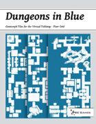 Dungeons in Blue - Floor Grid