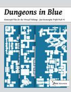 Dungeons in Blue - Just Geomorphs Triple Pack #2 [BUNDLE]