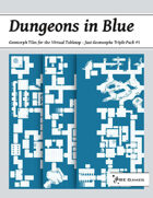 Dungeons in Blue - Just Geomorphs Triple Pack #5 [BUNDLE]