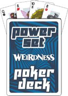 Supers Power Set Poker Deck (Blue)