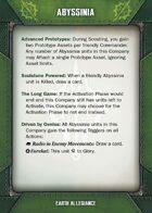 Abysinnia Allegiance Card