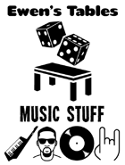 Ewen's Tables: Music Stuff