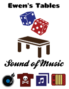 Ewen's Tables: Sound of Music