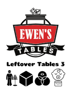 Ewen's Tables: Leftover Tables 3