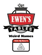 Ewen's Tables: Weird Names
