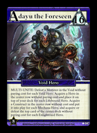 Adayu, The Foreseen - Custom Card