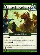 Aaravk Riders - Custom Card