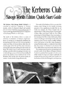 The Kerberos Club Quick-Start Guide (Savage Worlds Edition)