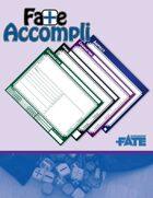 Fate Accompli - Fillable Fate Notecards & GM Screen