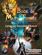 The Book of Many Things Campaign Exclusive Content
