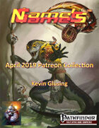 Name's Games April 2019 Collection