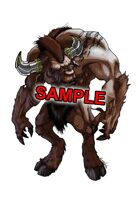 Image- Stock Art- Stock Illustration- Minotaur - Bull headed monster