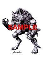 Image- Stock Art- Stock Illustration- Gnoll - Humanoid hyena